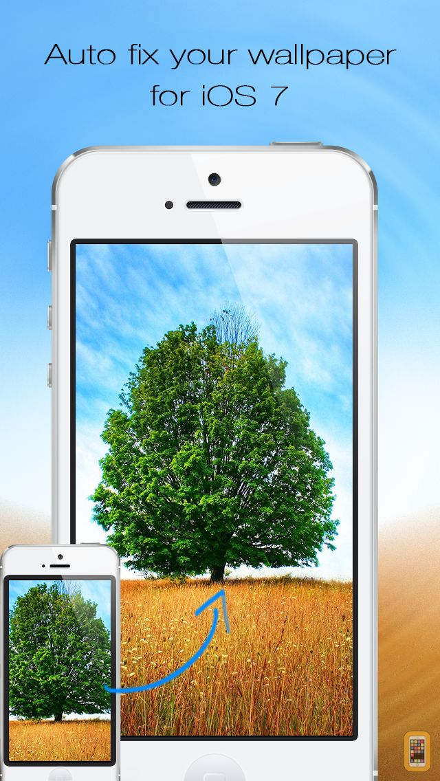 Screenshot - Wallpaper Fix & Fit Free- Scale, zoom, and position your background photos for iOS 7 home screen