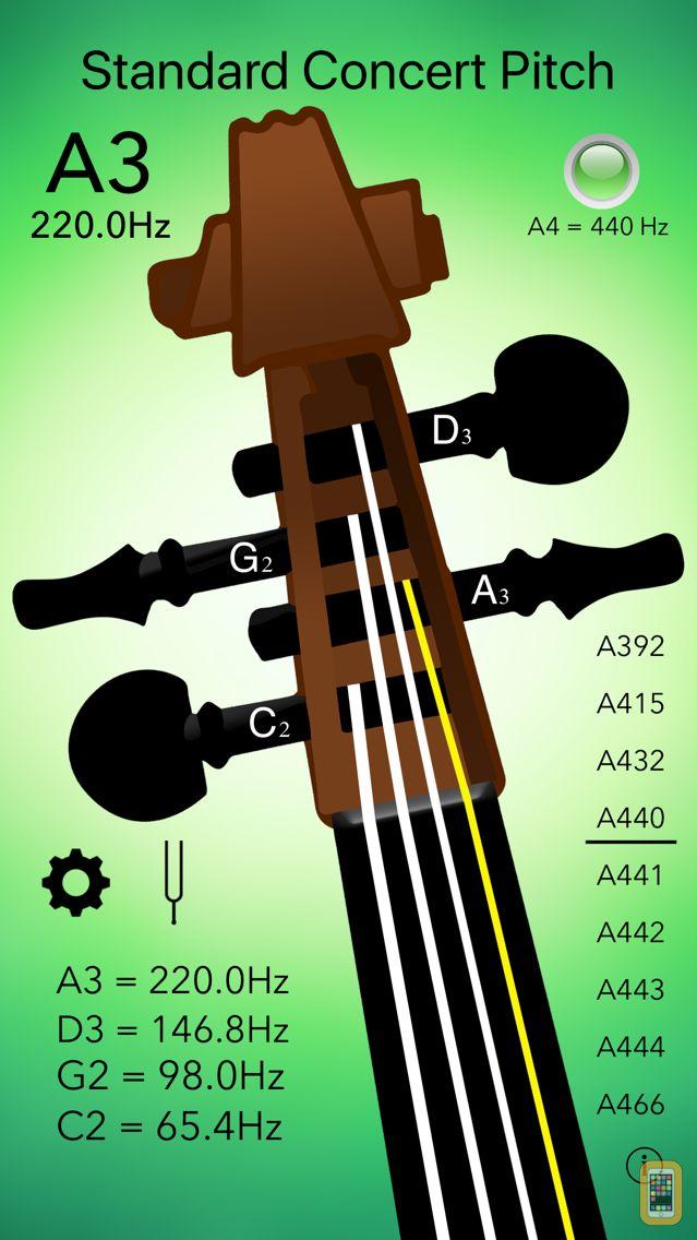 Screenshot - Cello Tuner Professional