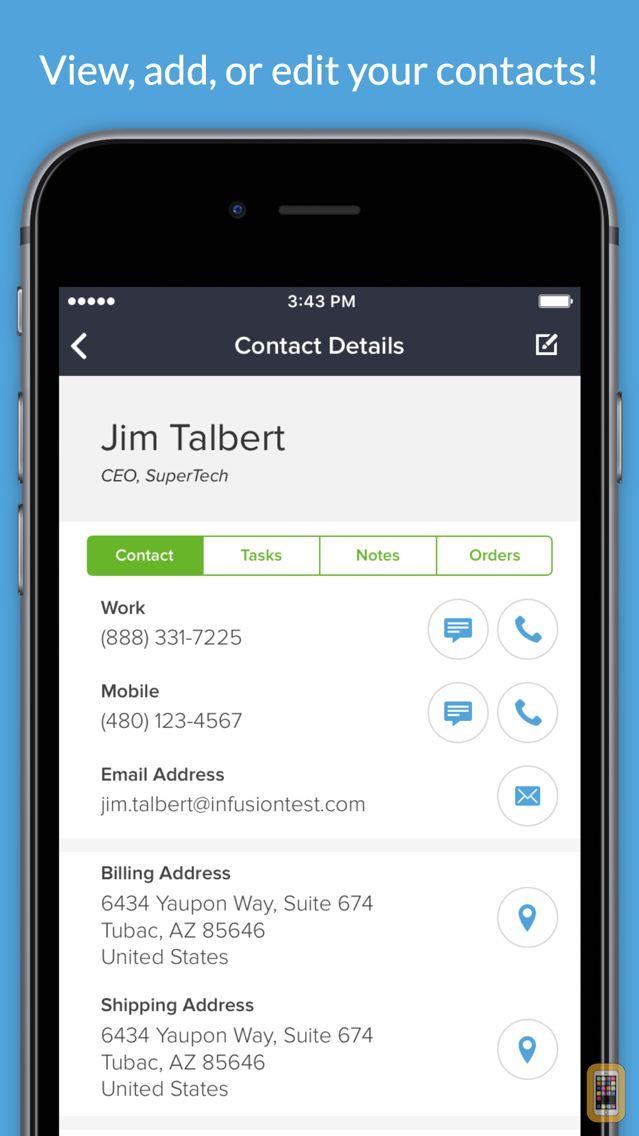 Screenshot - Infusionsoft Mobile