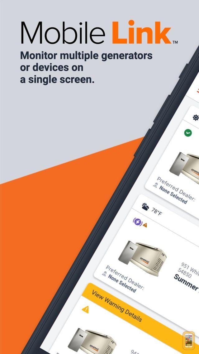 Screenshot - Mobile Link for Generators