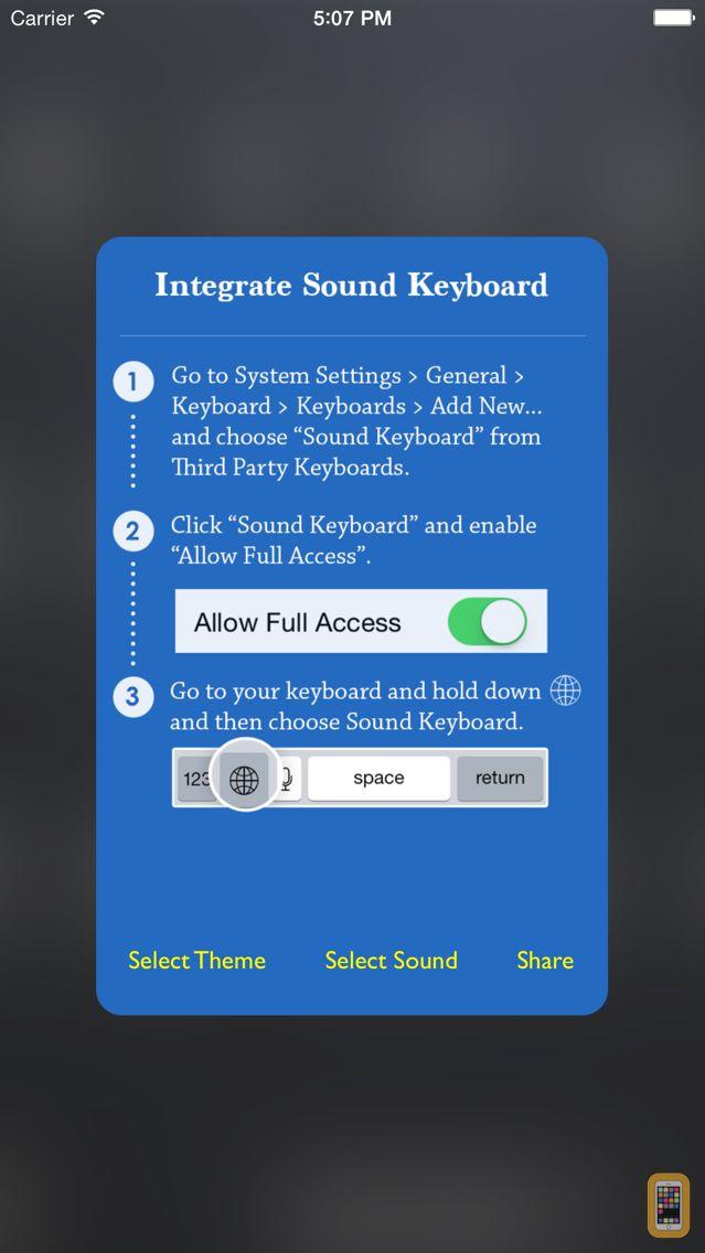 Screenshot - Keyboard Sound - Customize Typing, Clicks Tone