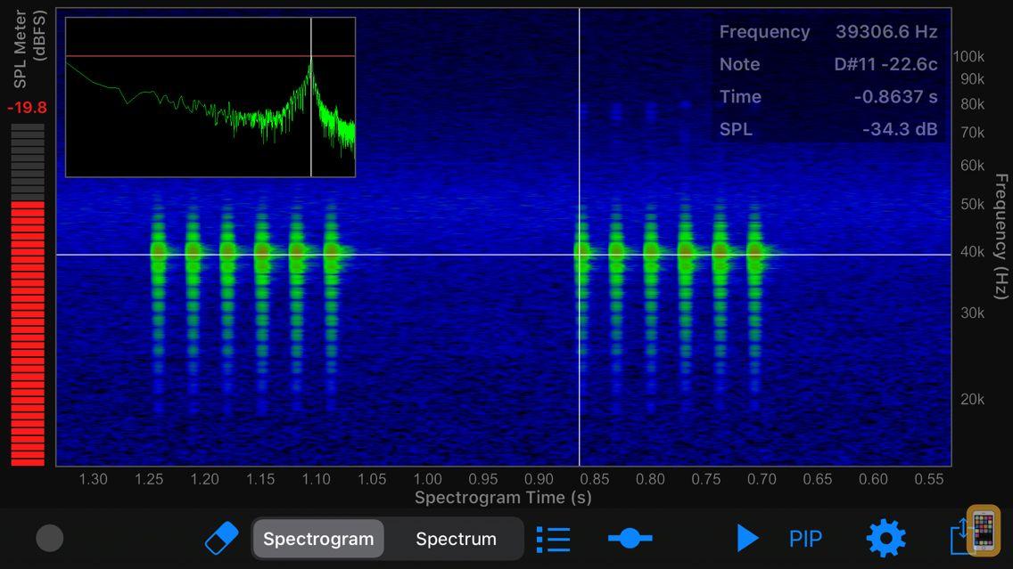 Screenshot - Ultrasonic Analyzer