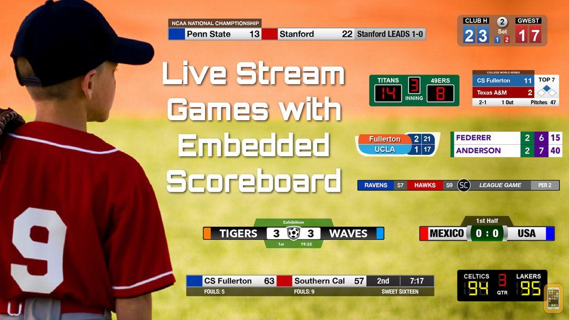 Screenshot - ScoreCam : Video Camera with Embedded, Interactive Scoreboard