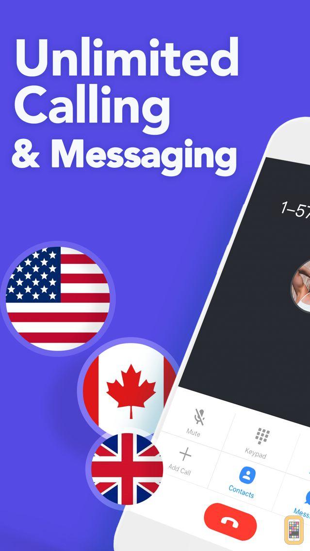 Screenshot - TalkU: Unlimited Calls + Texts