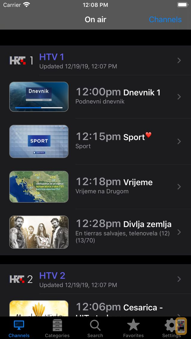 Screenshot - Croatian TV+