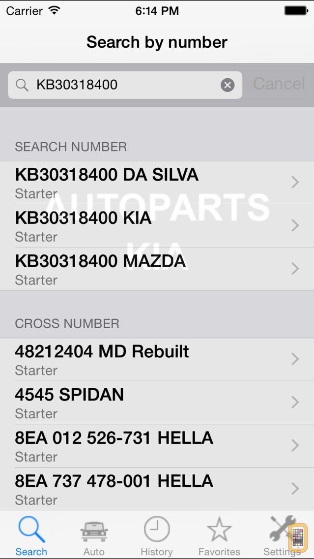 Screenshot - Autoparts for Kia