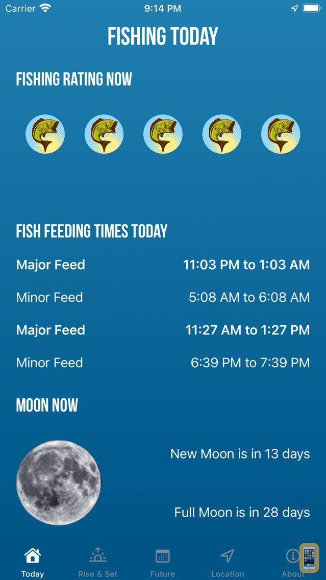 Screenshot - Solunar Best Fishing Times