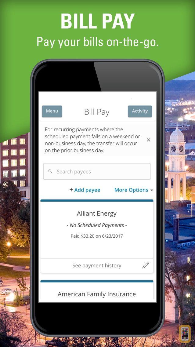 Screenshot - Dubuque Bank & Trust Mobile