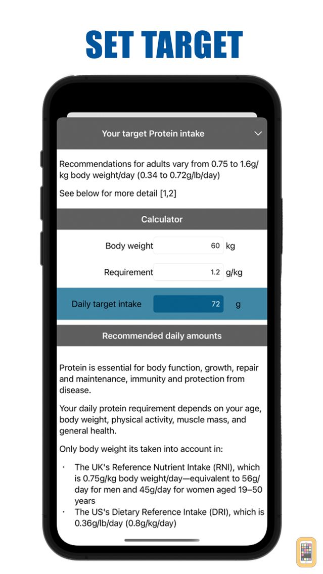 Screenshot - Protein Counter and Tracker for Healthy Food Diets