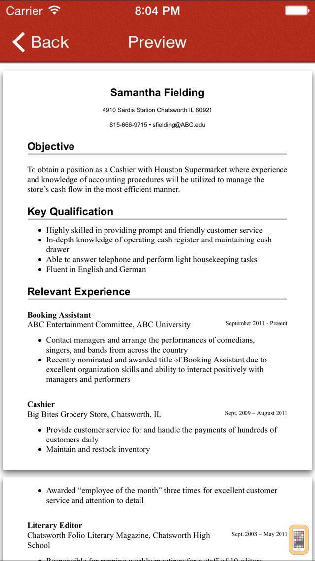 Screenshot - FoxResume Pro- Design & Share professional resume