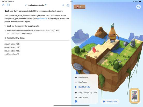 Screenshot - Swift Playgrounds