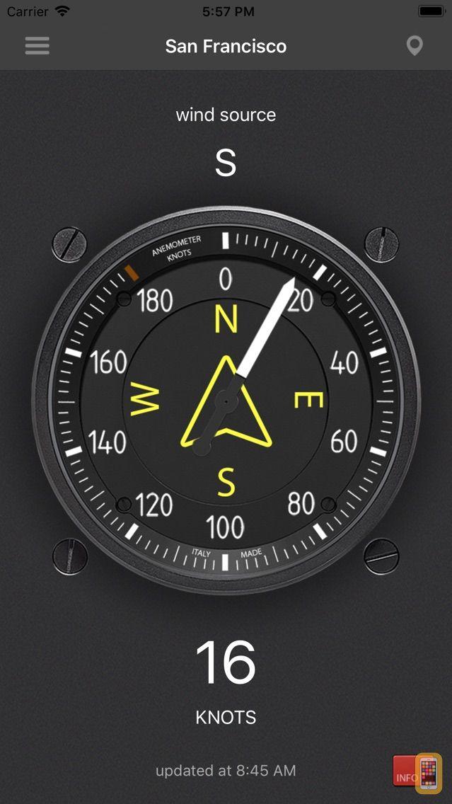 Screenshot - Anemometer - Wind speed