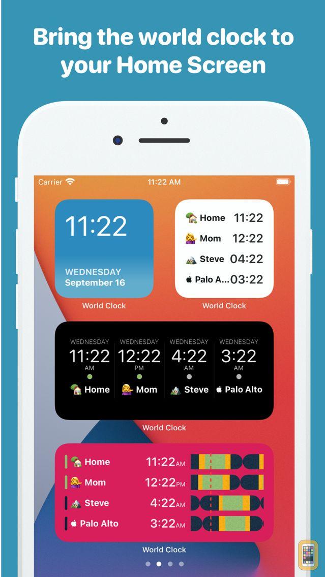 Screenshot - World Clock Time Widget