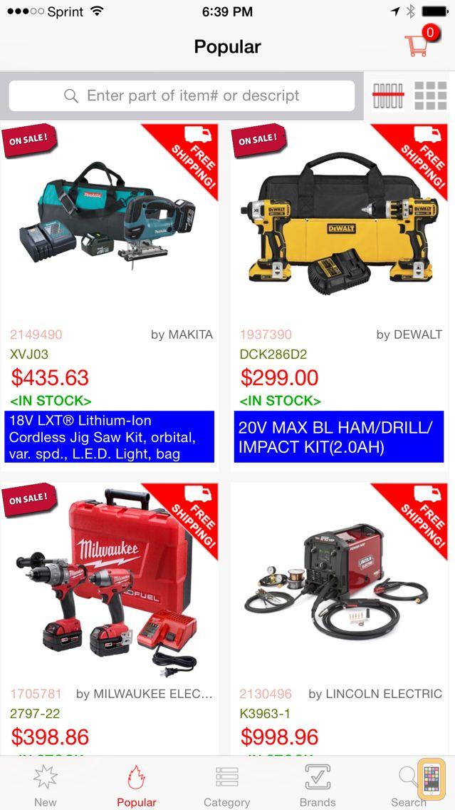 Screenshot - Lee's Tools Catalog Shopping