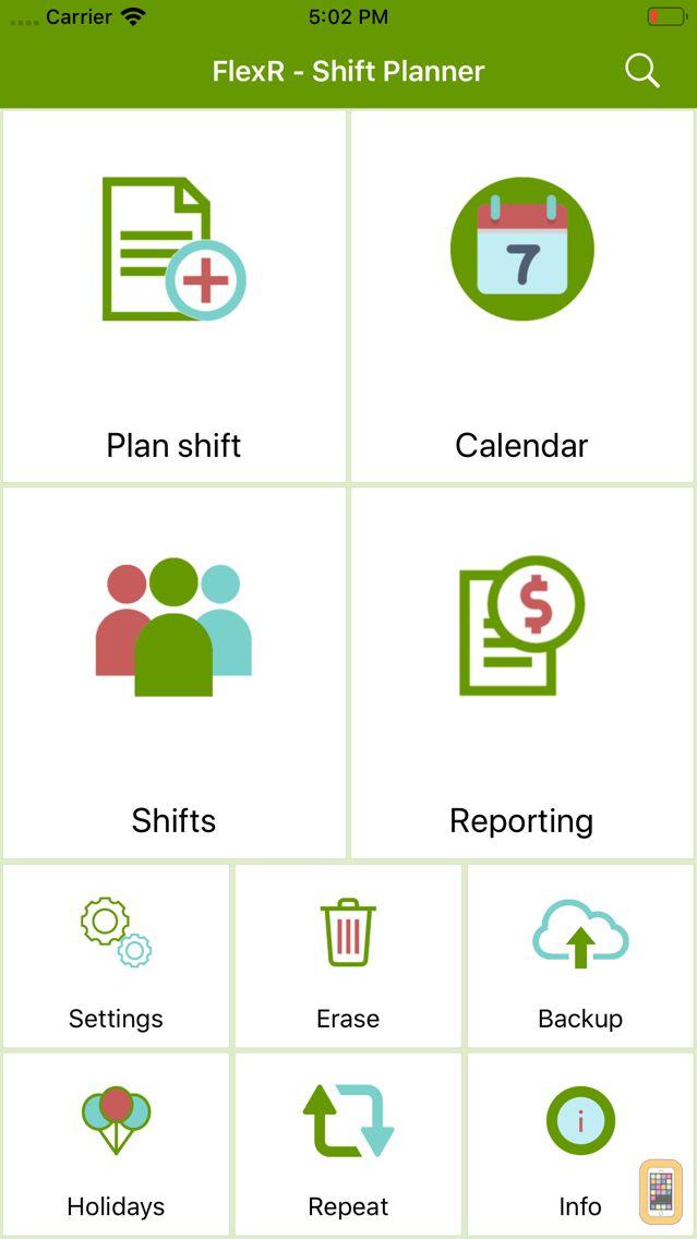 Screenshot - FlexR (Shift planner)