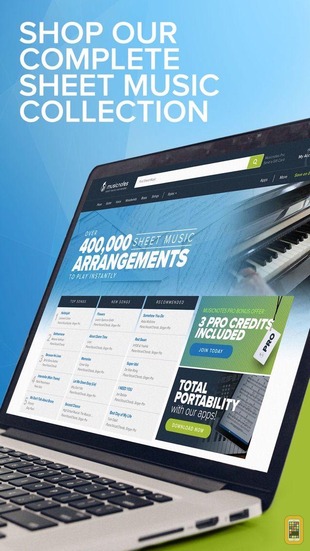 Screenshot - Musicnotes - Sheet Music