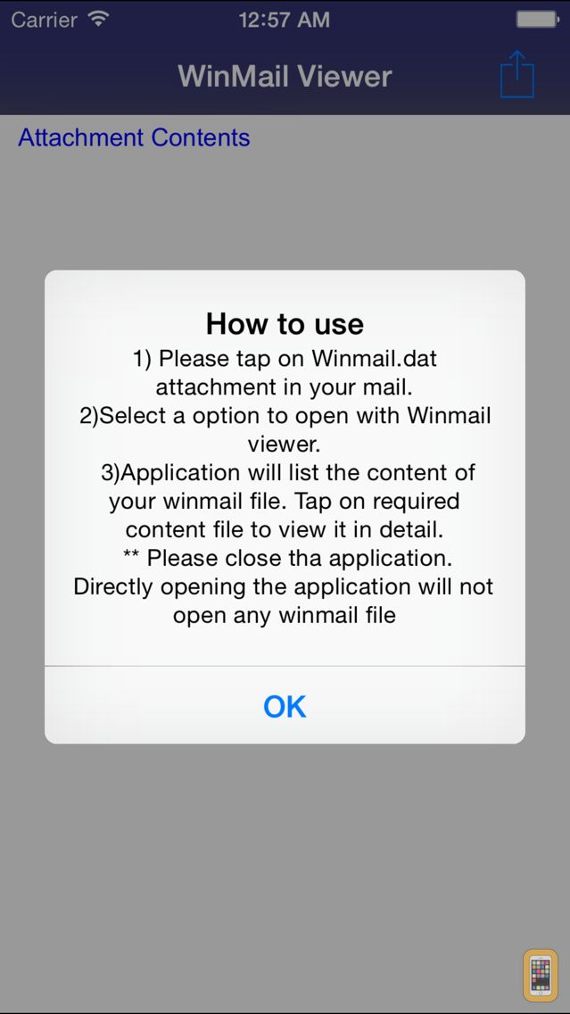 Screenshot - Winmail dat Viewer for iPhone 6 and iPhone 6 Plus