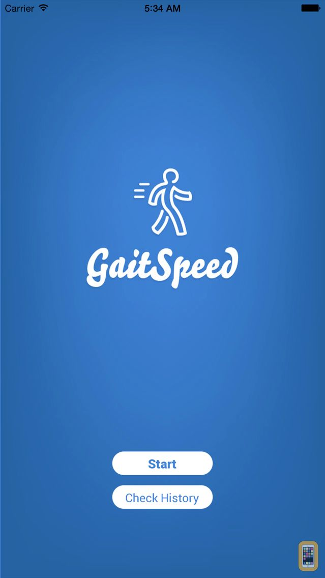 Screenshot - Gait Speed