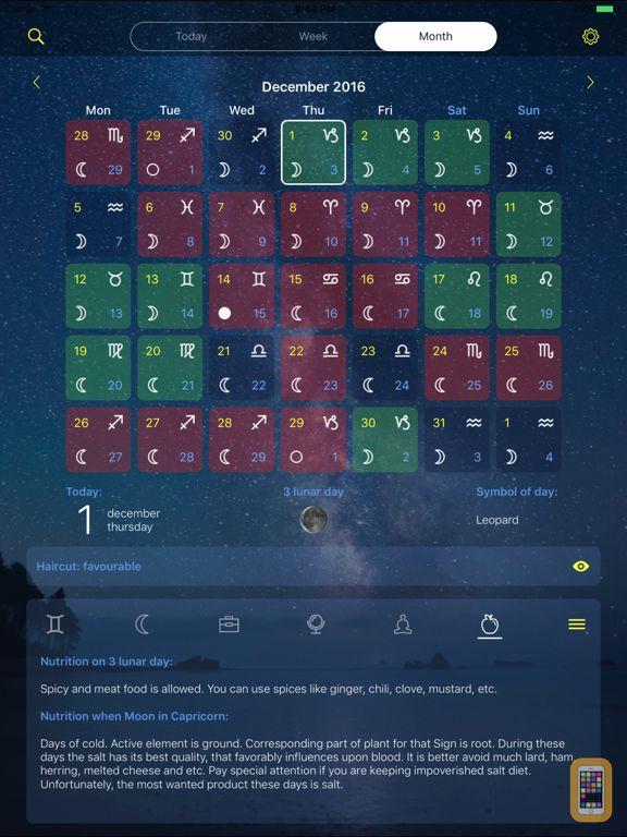 Lunar calendar Dara for iPhone & iPad - App Info & Stats | iOSnoops