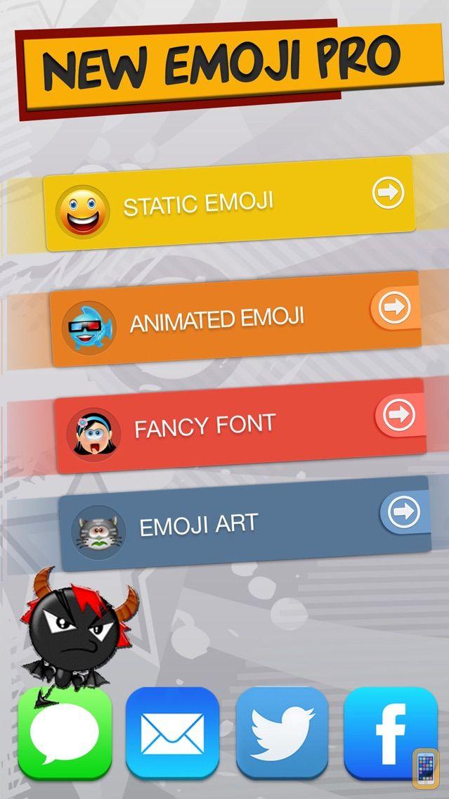 Screenshot - New Emoji Pro - Animated Emojis Icons, Fonts and Cartoons - Emoticons Keyboard Art