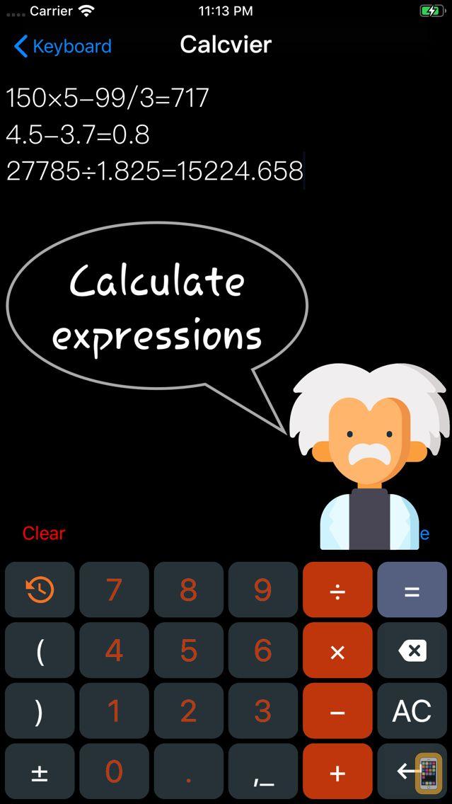 Screenshot - Calcvier - Keyboard Calculator