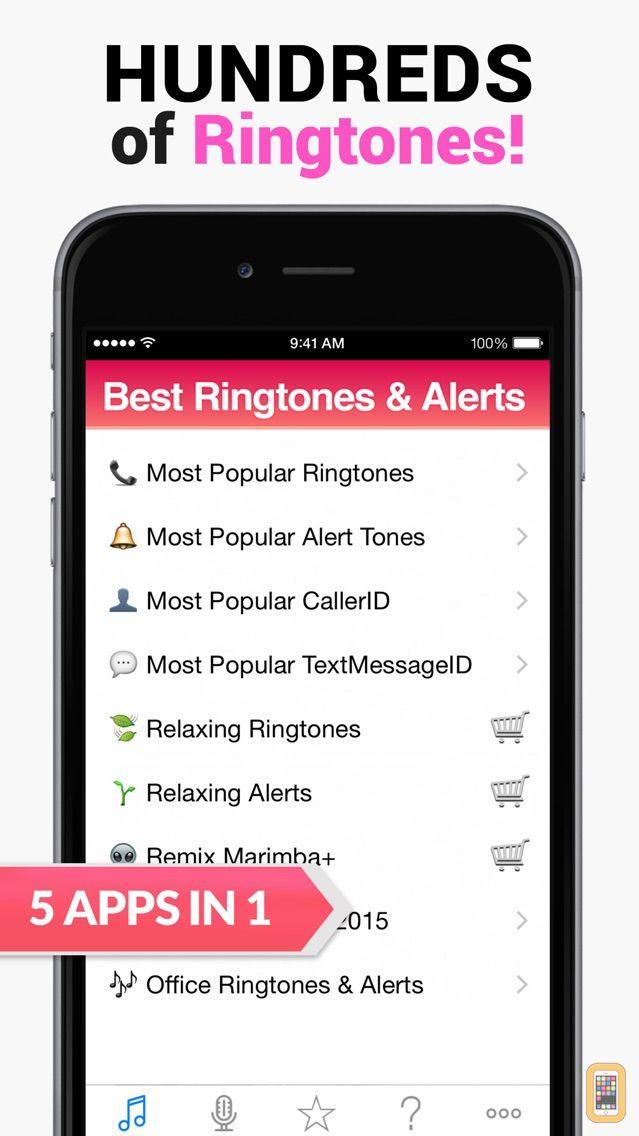 Screenshot - 2015 Best Ringtones for iPhone - 5 Apps in 1
