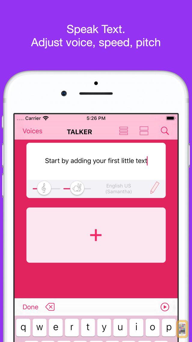 Screenshot - Talker - Text to Speech