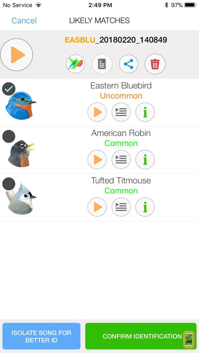 Screenshot - Song Sleuth: Auto Bird Song ID