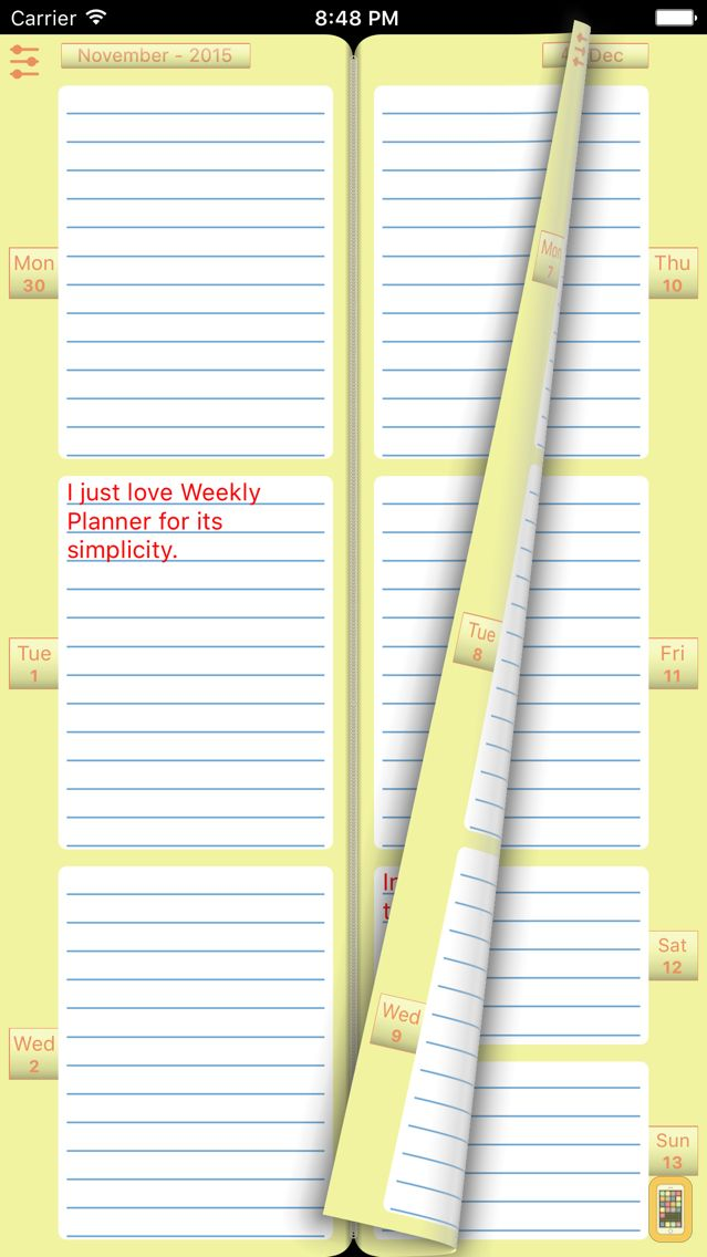 Screenshot - Weekly Planner To Do List