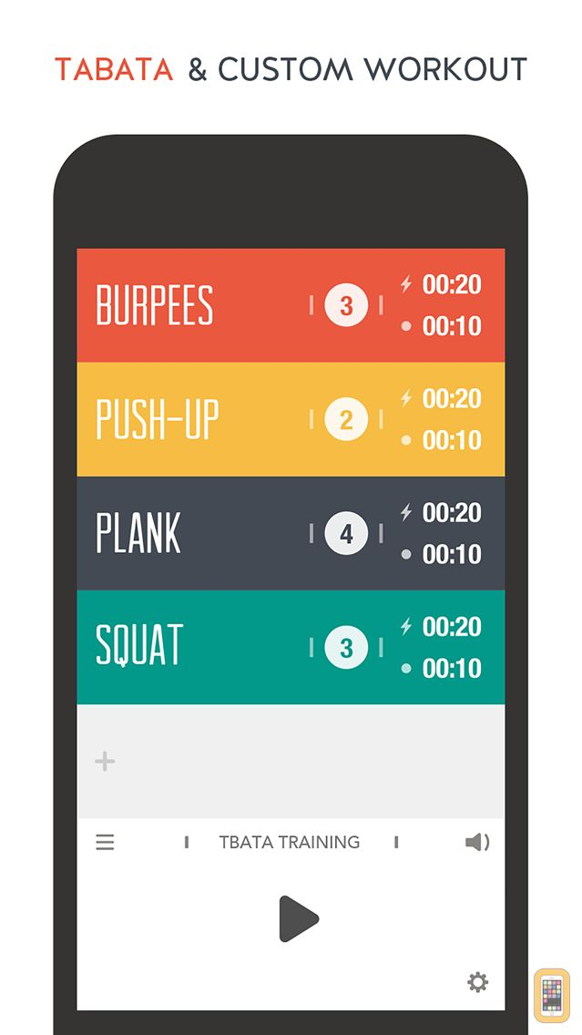 Screenshot - TABATACH - Interval Workout Timer for High Intensity Interval Training (HIIT) : TABATA & any Circuit Training