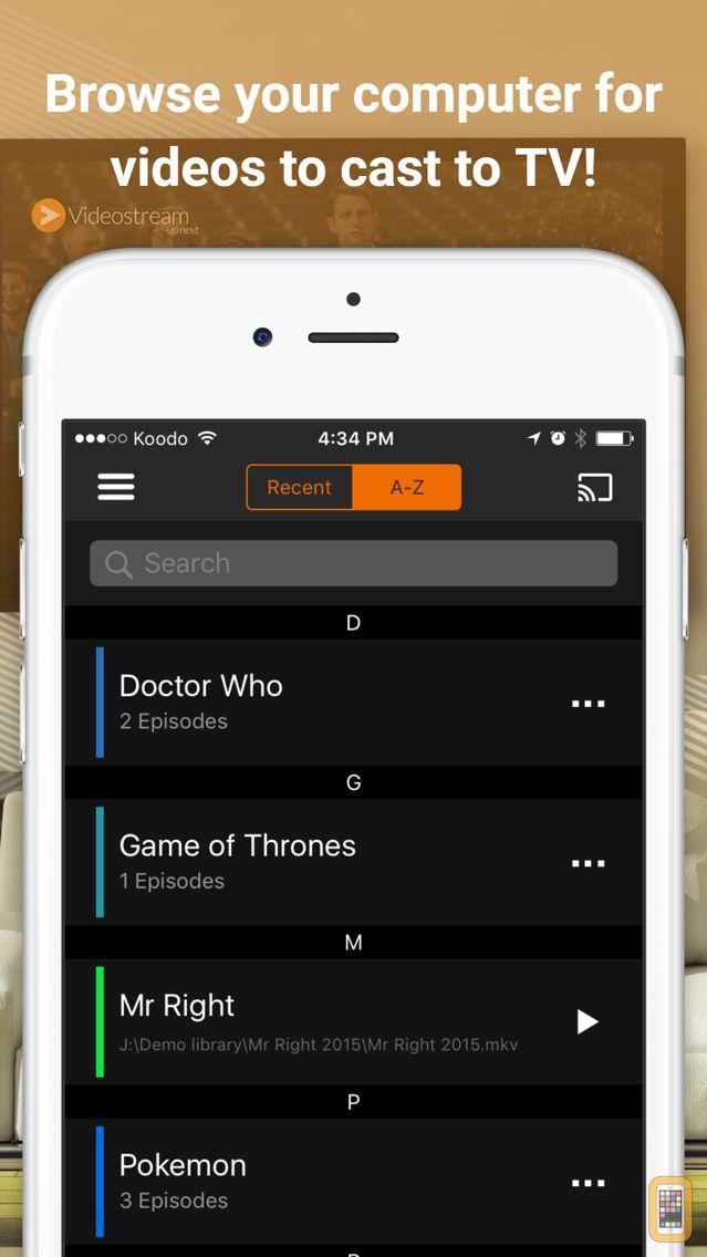 Screenshot - Videostream Mobile for Chromecast — Cast videos, music, and photos from your computer to Chromecast