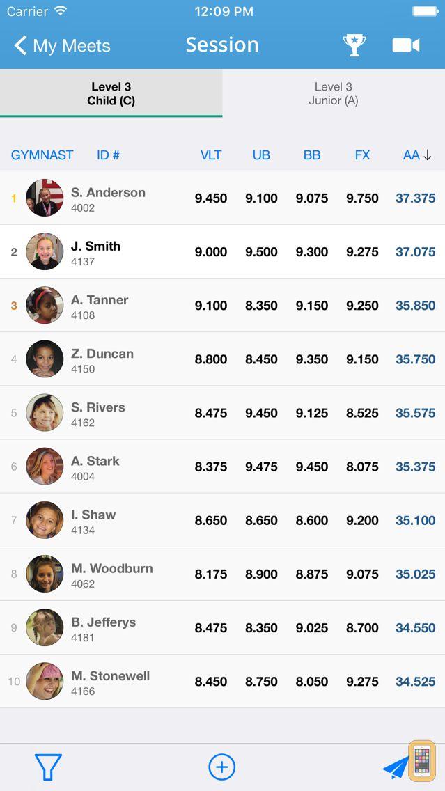 Screenshot - Kip - Gymnastics Meet Tracker