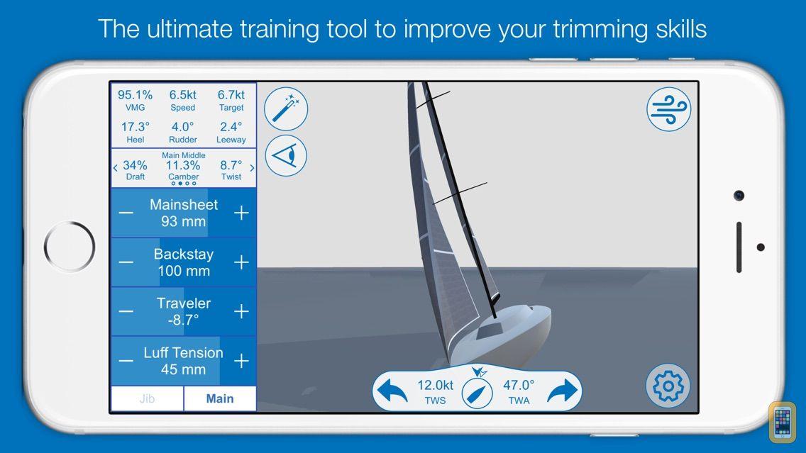 Screenshot - North U Sailing Trim Simulator - Virtual, Sailor, Wind, Navigation, Regatta