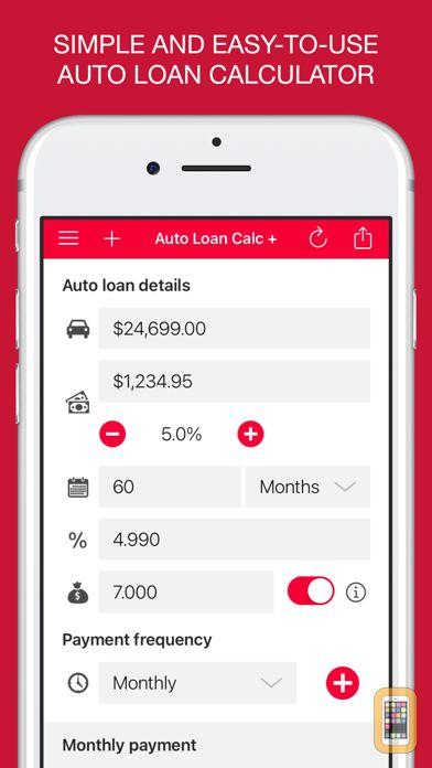 Auto Loan Calculator + for iPhone & iPad - App Info & Stats   iOSnoops